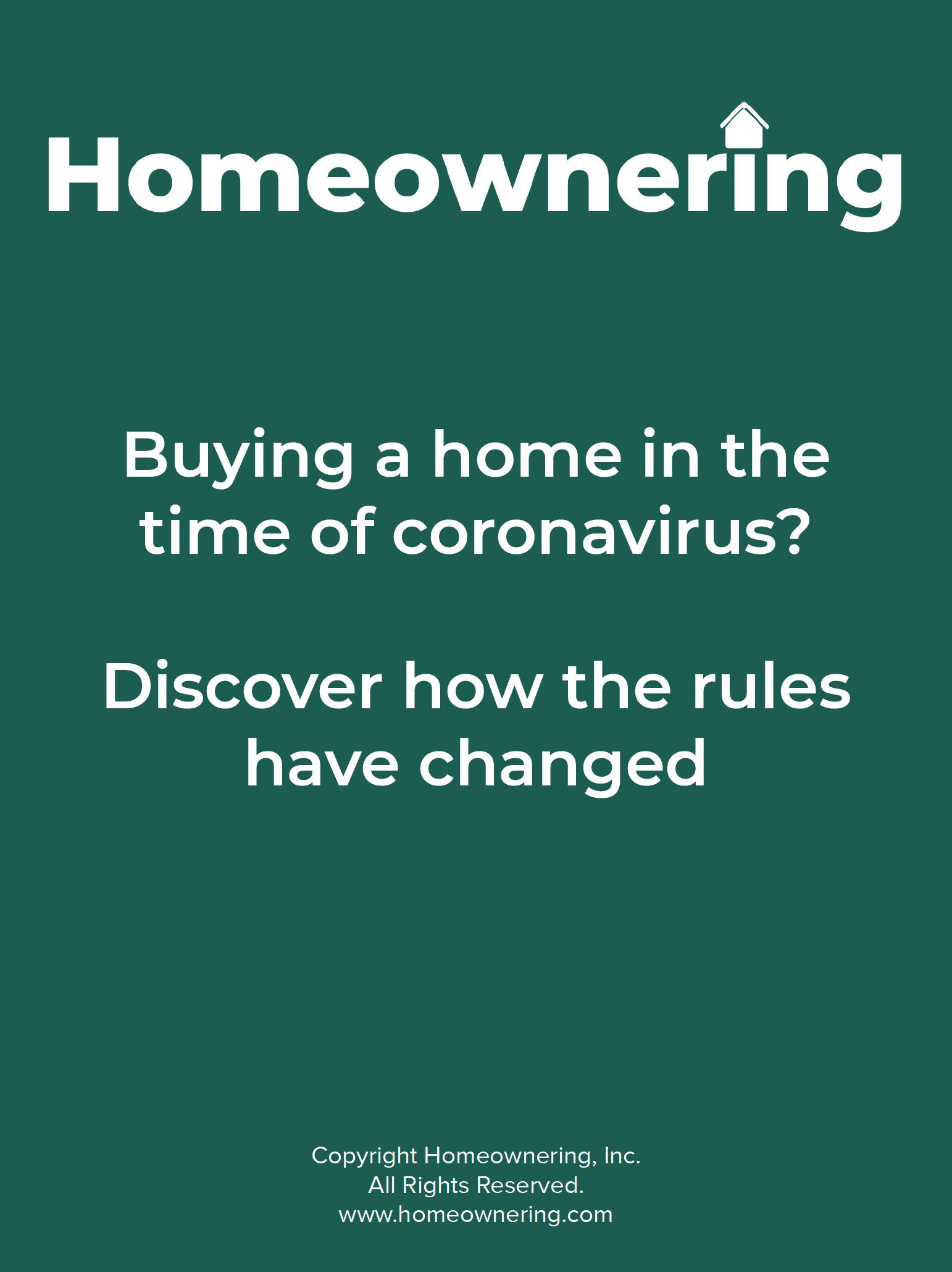 Buying a home during the coronavirus