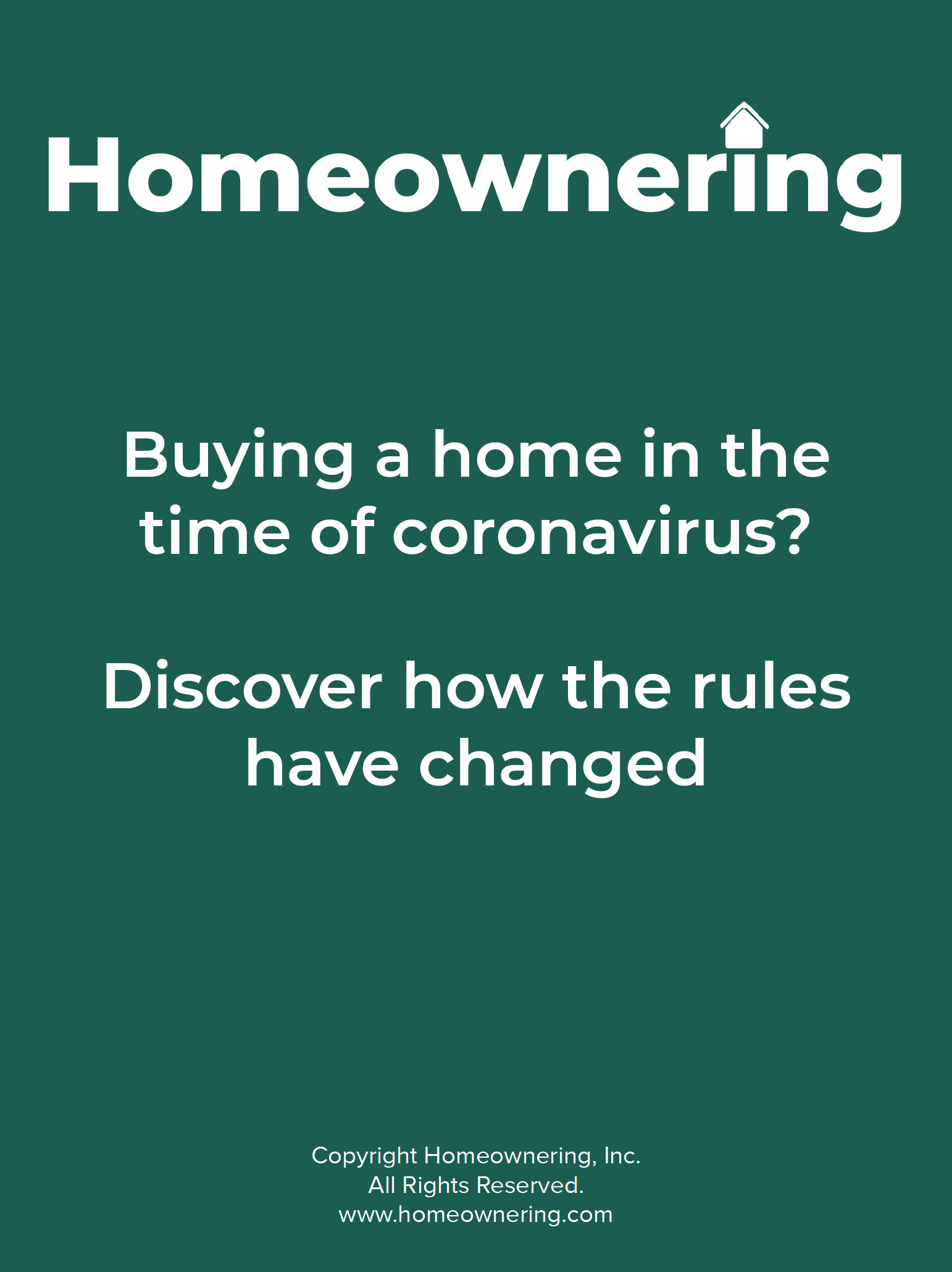 Buying a home during the coronavirus